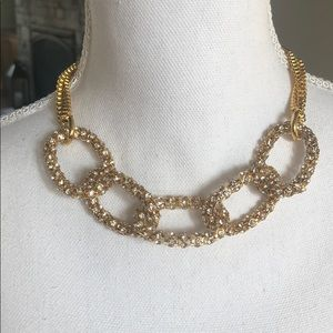 Ann Taylor Gold Crystal Chain Necklace